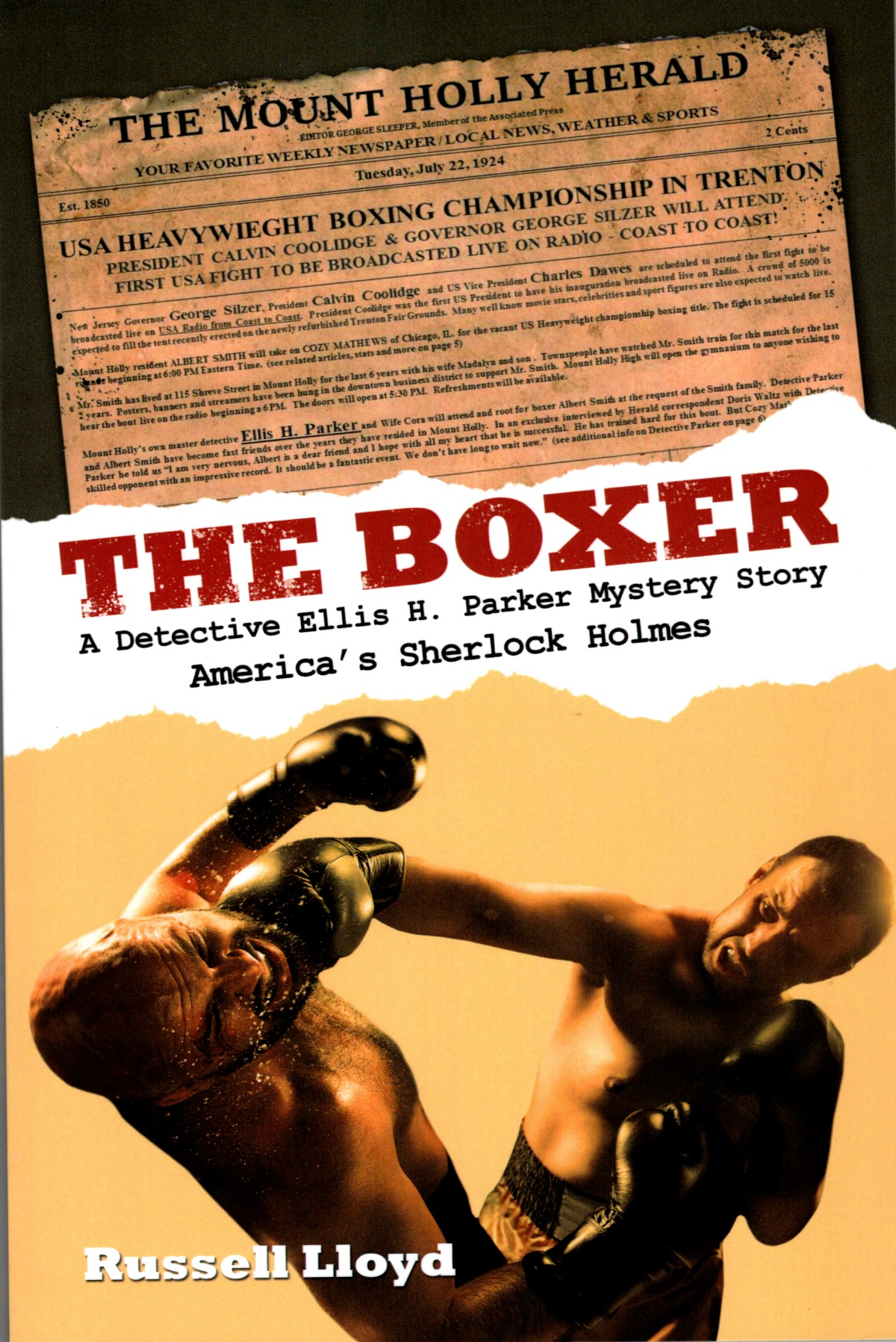 """""""The Boxer"""" Book Cover Page"""